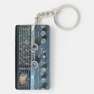 Vintage Short Wave Radio Key Chain