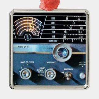 Vintage Short Wave Radio Receiver Christmas Ornament