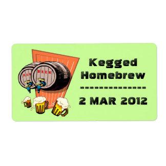 Vintage Shout Homebrew Kegging Home Brew Labels