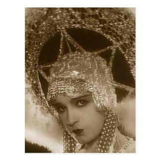 Vintage Showgirl Postcard