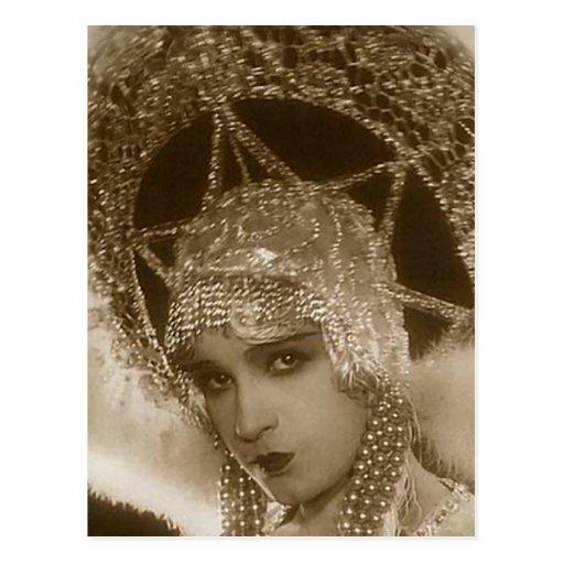Vintage Showgirl Post Card