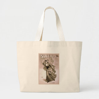 vintage-siberia-poster- tote bags