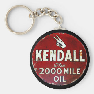 Vintage Sign Basic Round Button Key Ring