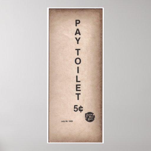 vintage sign pay toilet 5 zazzle. Black Bedroom Furniture Sets. Home Design Ideas