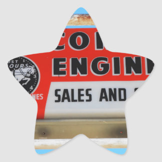 Vintage Sign Route 66 Kingman Wisconsin Engines Star Sticker