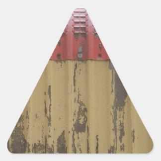Vintage sign triangle sticker