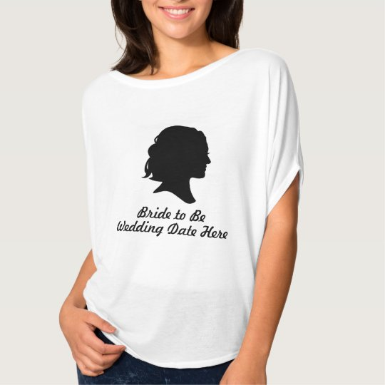 Vintage Silhouette Bride-to-Be Bridal Dolman Shirt