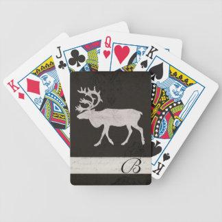 Vintage Silhouette Buck Monogram Card Deck Poker Deck