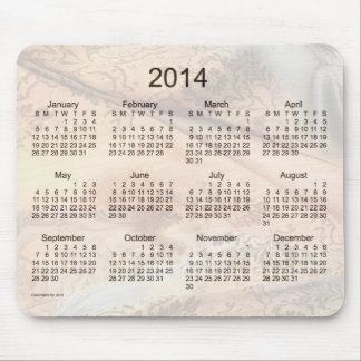 Vintage Silk 2014 Calendar Mouse Pad