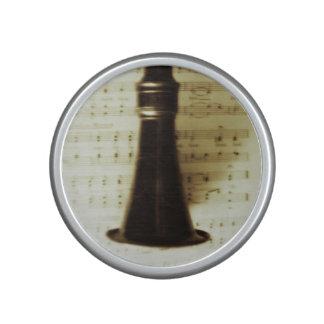 Vintage Silver Clarinet Bluetooth Speaker