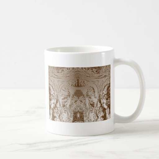 Vintage Silver Graphic - Cave Style Art Patterns Coffee Mugs