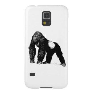 Vintage Silverback Gorilla Illustration Black Case For Galaxy S5