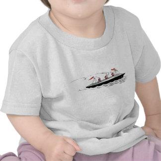 Vintage Simple Ship Illustration Tee Shirt