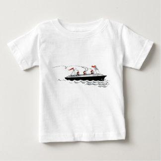 Vintage Simple Ship Illustration Tee Shirts
