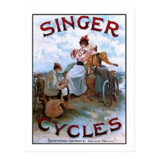 Vintage Singer Cycles Ad Post Cards