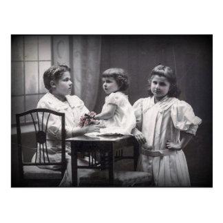 Vintage Sisters Postcard