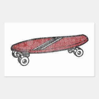 Vintage Skateboard Rectangular Sticker