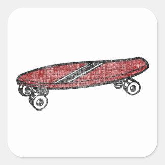 Vintage Skateboard Square Sticker