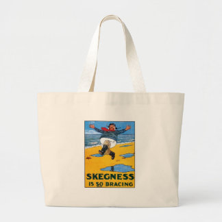Vintage Skegness Ad - Skegness is so Bracing - Man Canvas Bags