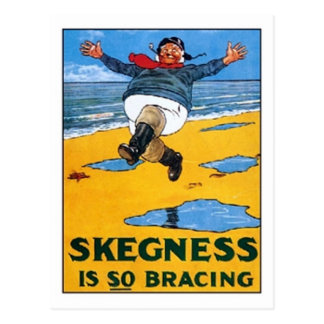 Vintage Skegness Ad - Skegness is so Bracing - Man Postcard