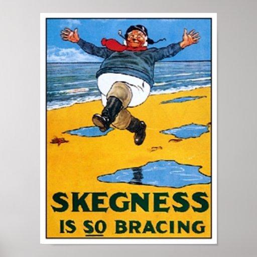 Vintage Skegness Ad - Skegness is so Bracing - Man Posters
