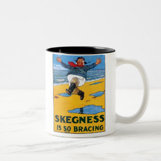 Vintage Skegness Ad - Skegness is so Bracing - Man Two-Tone Coffee Mug