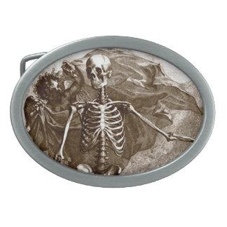 Vintage Skeleton and Cherub Belt Buckle