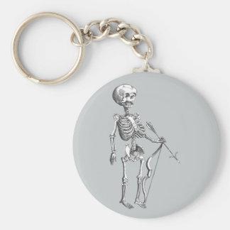 Vintage Skeleton Archer Key Ring