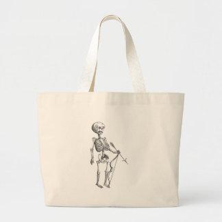 Vintage Skeleton Archer Large Tote Bag
