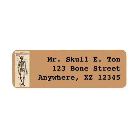 Vintage Skeleton Definition Return Address Label