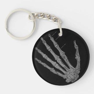 Vintage Skeleton Hands Gothic Punk Key Ring Double-Sided Round Acrylic Key Ring