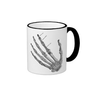 Vintage Skeleton Hands Gothic Punk Two-Tone Mug