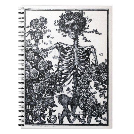 Vintage Skeleton Spiral Notebook