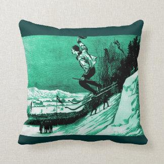 Vintage ski design, the race winner cushion