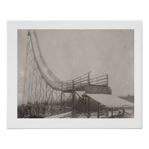 Vintage ski image, Is it safe? Poster
