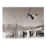 Vintage ski  image, Tricks on skis Postcards