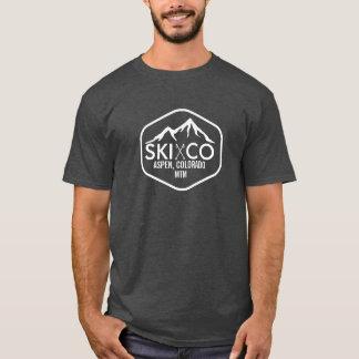 Vintage Ski Mountain Logo Aspen Colorado Your Text T-Shirt