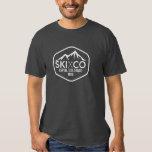 Vintage Ski Mountain Logo Aspen Colorado Your Text Tee Shirt