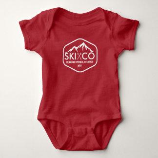 Vintage Ski Mountain Steamboat Springs Colorado Baby Bodysuit