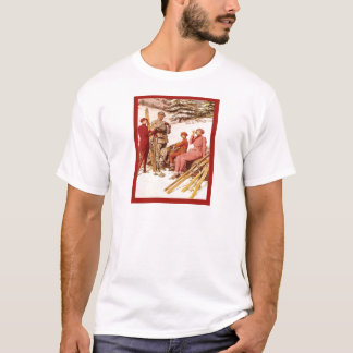 Vintage Ski poster, Fashion on the piste T-Shirt
