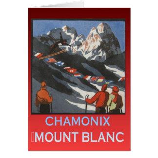 Vintage Ski Poster France Chamonix Mt Blanc Cards