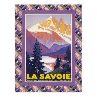 Vintage Ski Poster,  France, La Savoie, Postcard