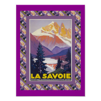 Vintage Ski Poster, France, La Savoie Poster