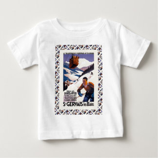 Vintage Ski Poster,  France, St Gervais les Bains Baby T-Shirt