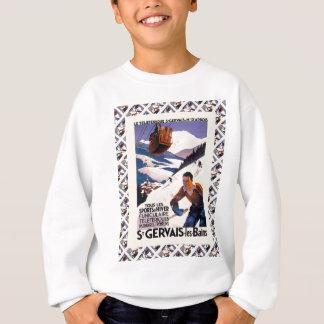 Vintage Ski Poster,  France, St Gervais les Bains Sweatshirt