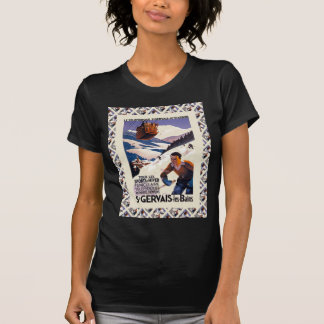 Vintage Ski Poster,  France, St Gervais les Bains T-Shirt