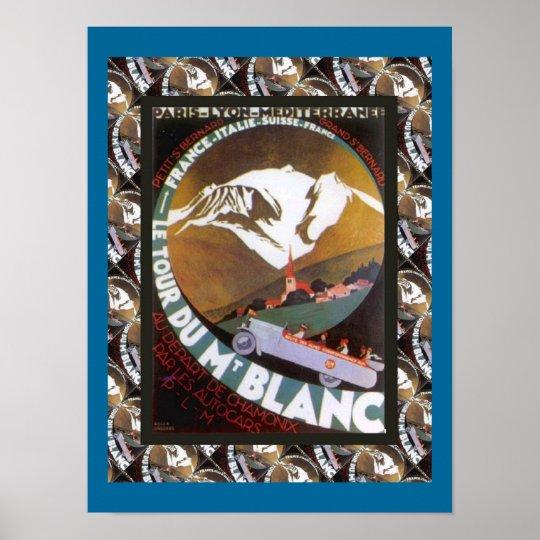 Vintage Ski Poster, France, Tour de Mont Blanc