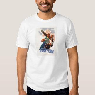 Vintage Ski Poster, Italy, Dolomites Cortina Shirt