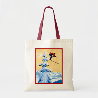 Vintage ski poster, Jungfrau region, Switzerland Tote Bag