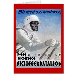 Vintage Ski poster, Norske skijeggerbatallion Card